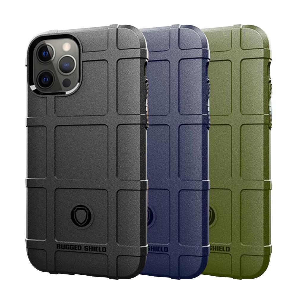 QinD Apple iPhone 12/12Pro 戰術護盾保護套(軍綠)