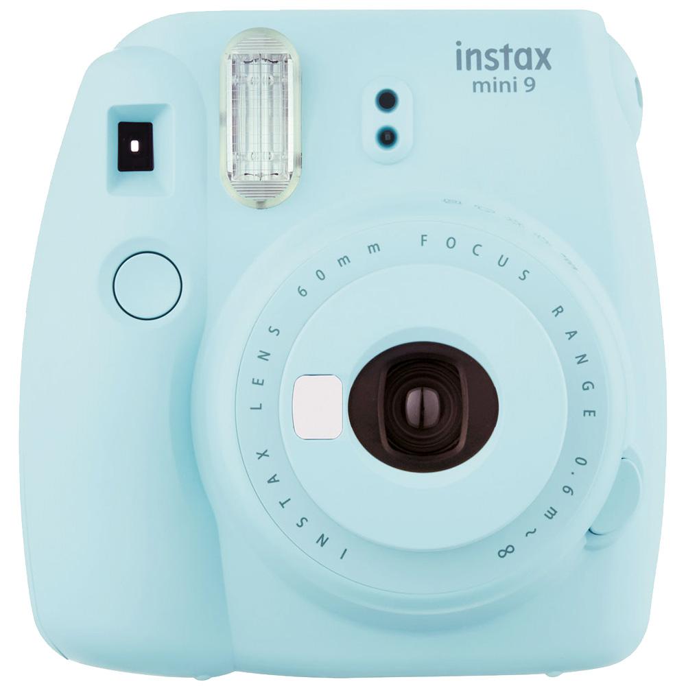 FUJIFILM instax mini 9 超值七件組合 拍立得相機(公司貨)_淺冰藍