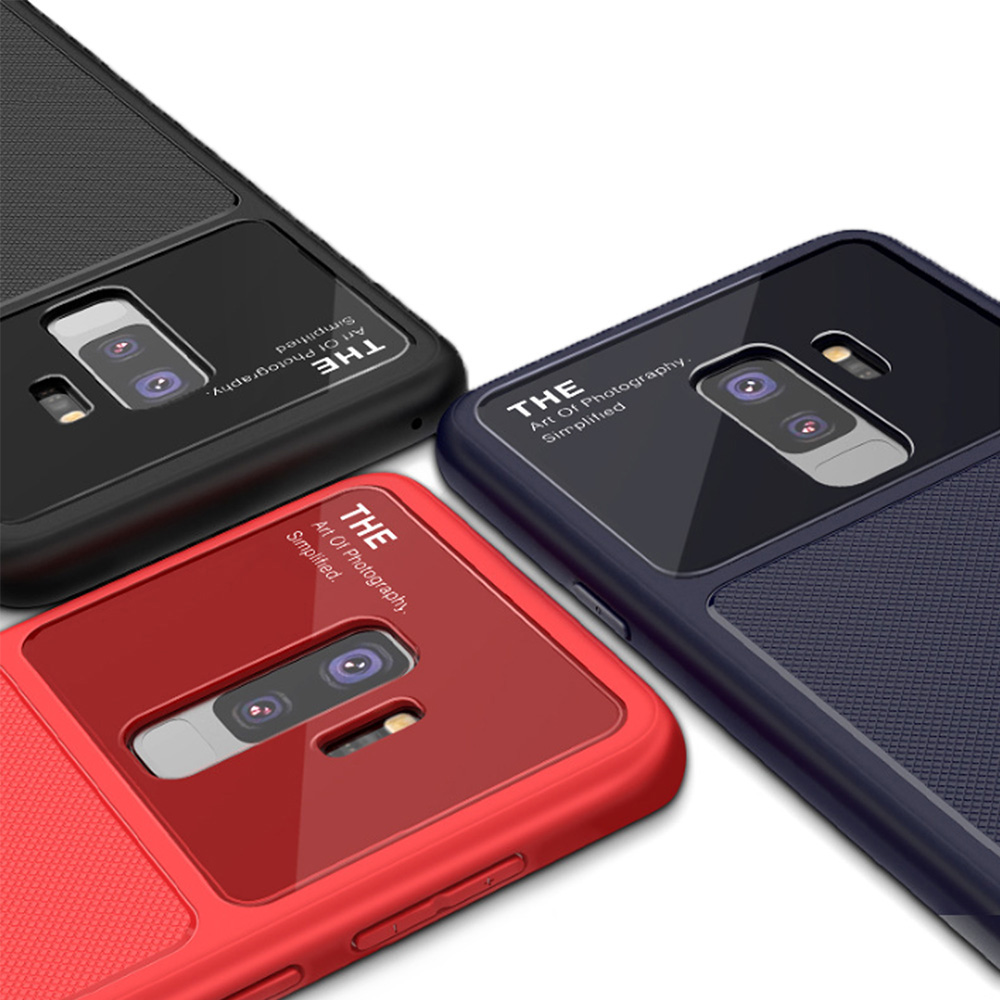 QinD SAMSUNG Galaxy S9+ 爵士玻璃手機殼(紅色)
