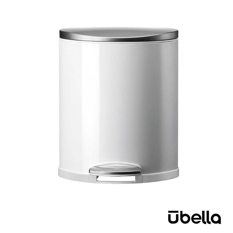 優百納8L隨享系列靜音垃圾桶白色AJ-8008WH