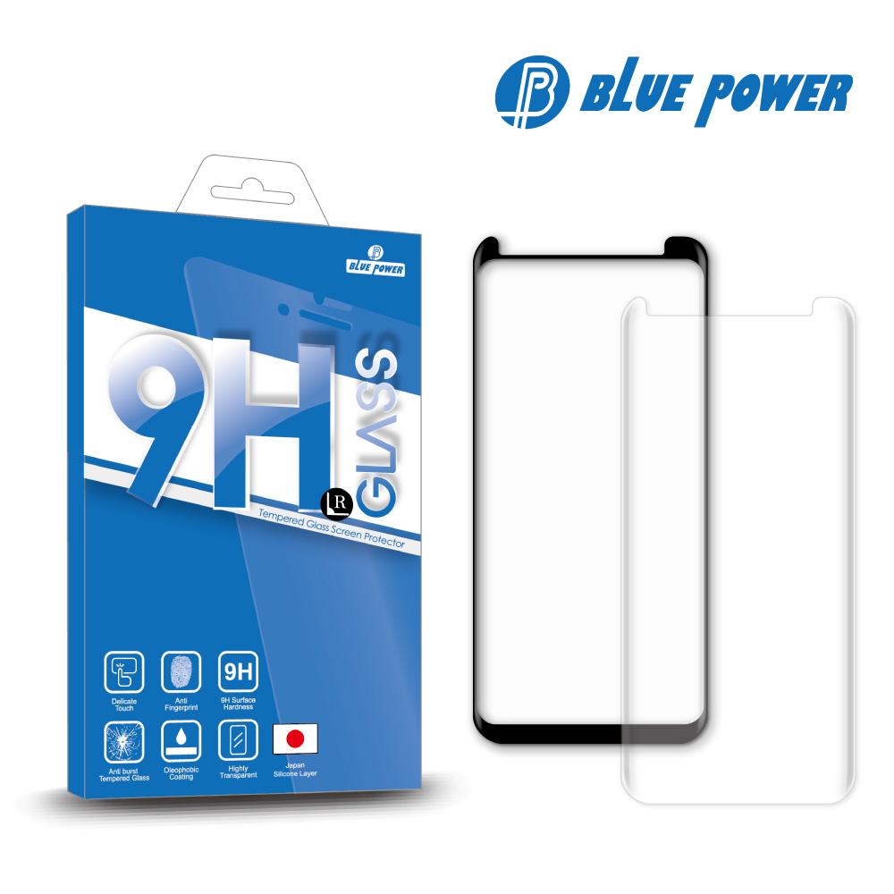 BLUE POWER Samsung Galaxy S9+ (6.2吋) 3D 縮版 9H鋼化玻璃保護貼-黑色
