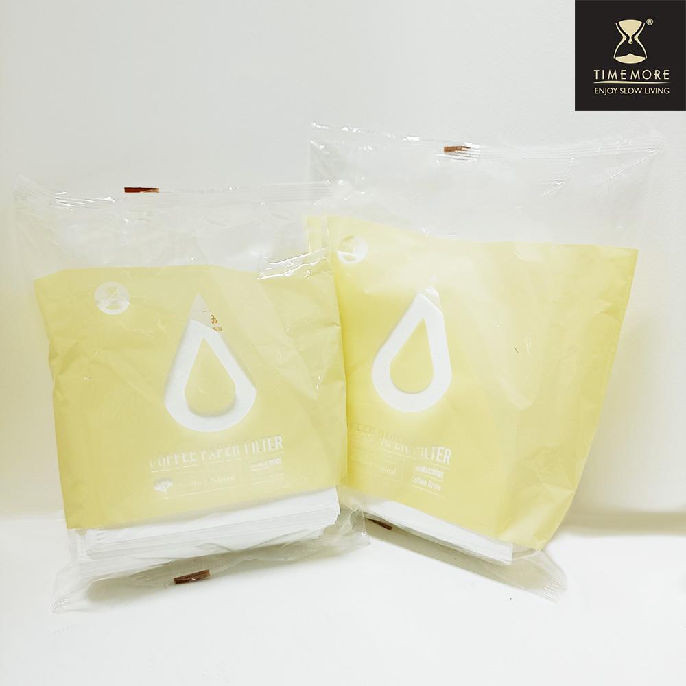 TIMEMORE泰摩淨白型咖啡濾紙(日本製)-100張(01號 V形濾紙)