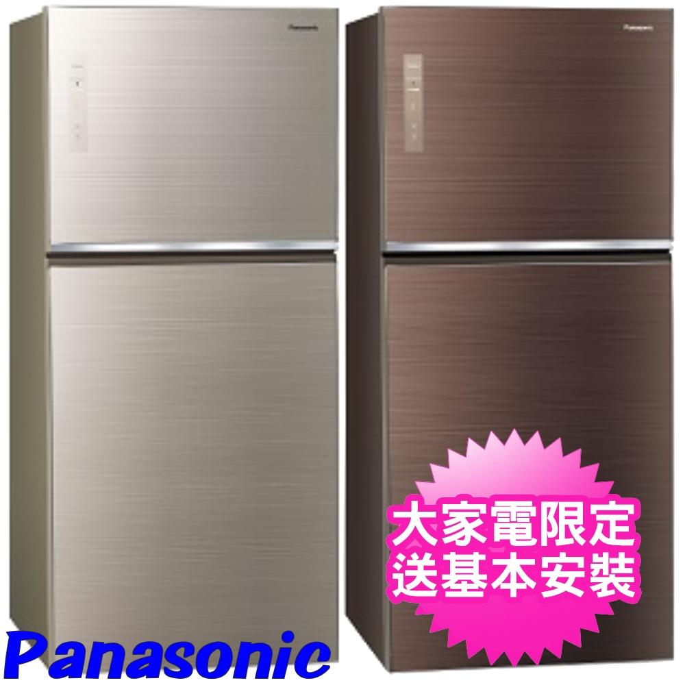 【Panasonic國際牌】650公升玻璃雙門變頻冰箱 翡翠金 NR-B659TG-N