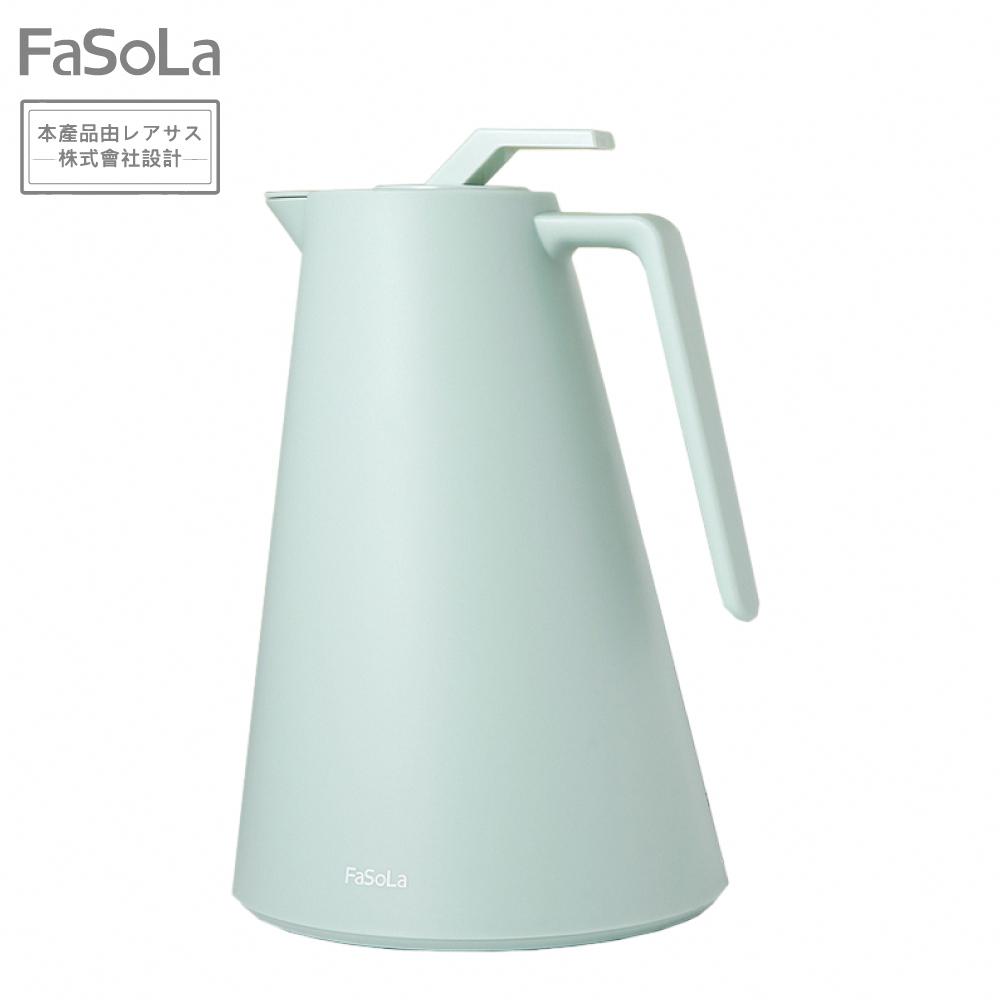 FaSoLa 日系玻璃紅膽強化保溫壺 1L - 橄欖綠