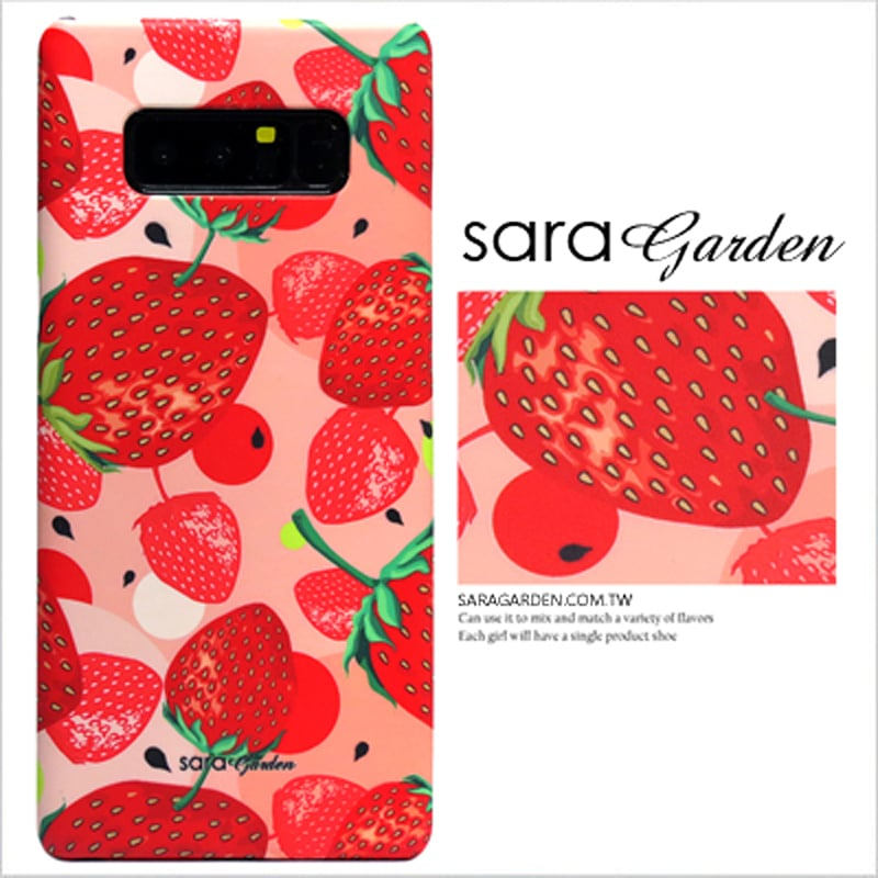 【Sara Garden】客製化 手機殼 OPPO R11S r11S 粉嫩草莓 手工 保護殼 硬殼