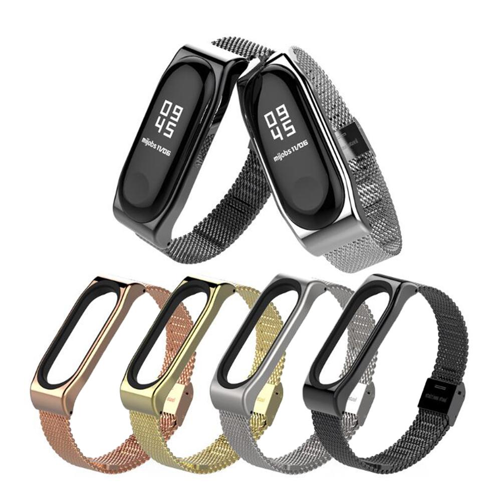 mijobs 小米手環 4 / 手環 3 經典米蘭腕帶(黑色)