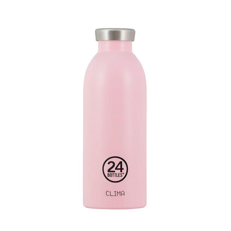 義大利 24Bottles Clima不銹鋼雙層保溫瓶 500ml - 糖果粉