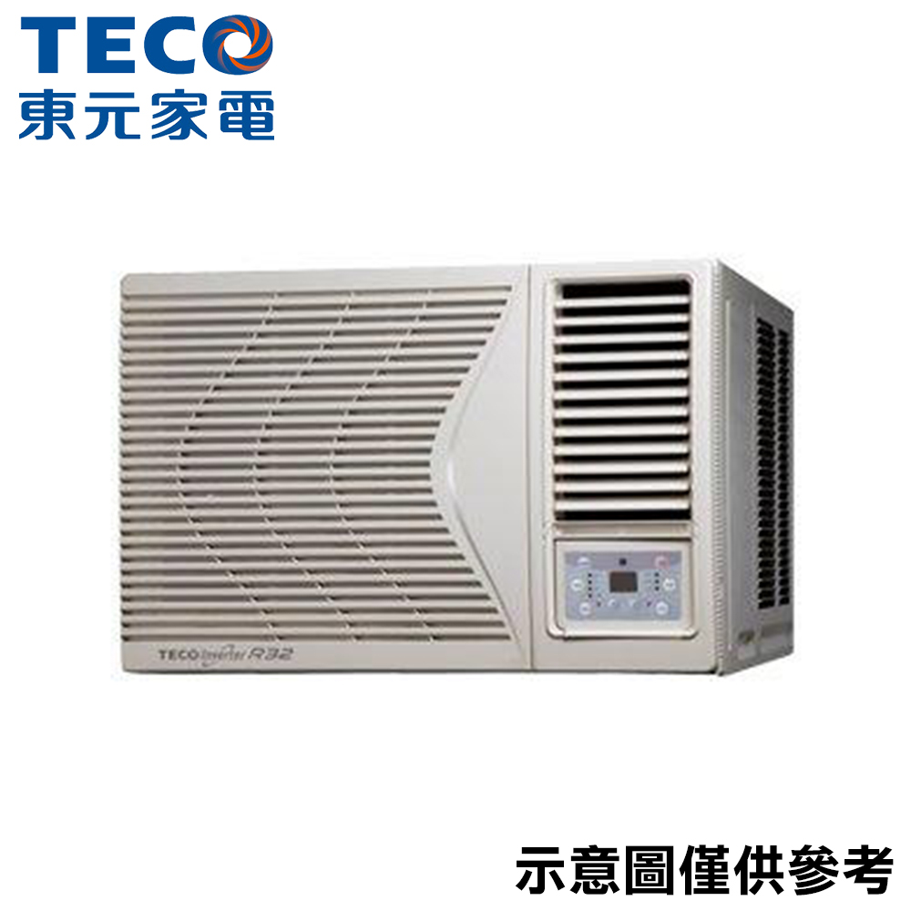 【TECO 東元】13-15坪 R32變頻窗型右吹冷氣 MW72ICR-HR