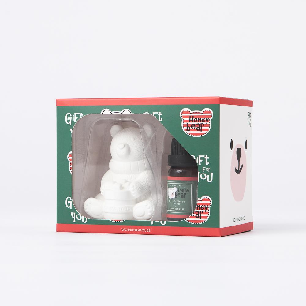 Honey熊香氛石膏擺飾-生活工場