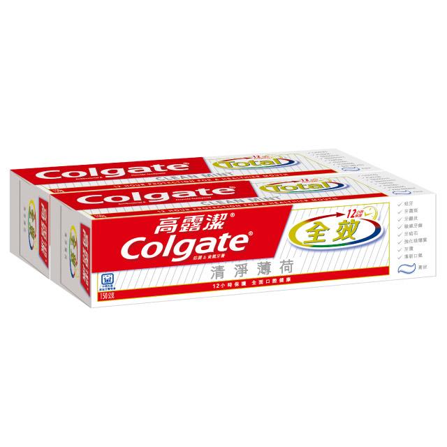 高露潔 全效清淨薄荷牙膏150g*2入裝