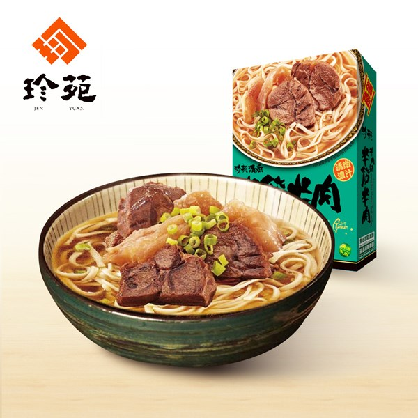 《珍苑》清燉半筋牛肉麵(常溫)(530g/份,共2份)