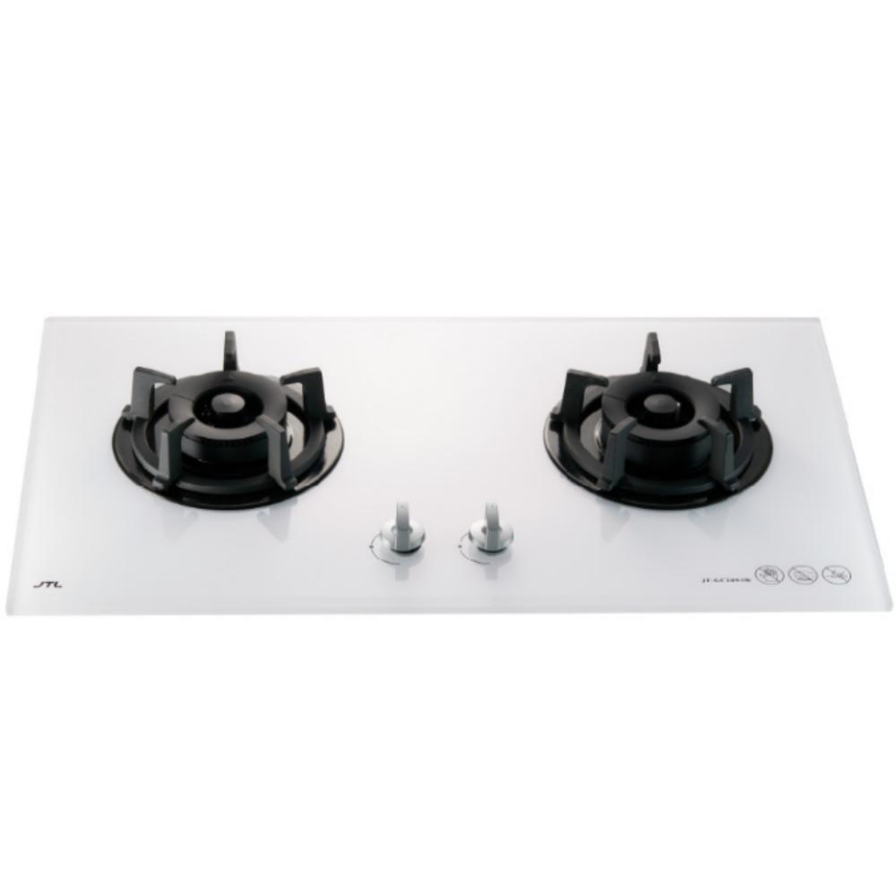 (全省安裝)喜特麗二口玻璃檯面爐白色(與JT-GC209A同款)瓦斯爐天然氣JT-GC209ALW_LPG