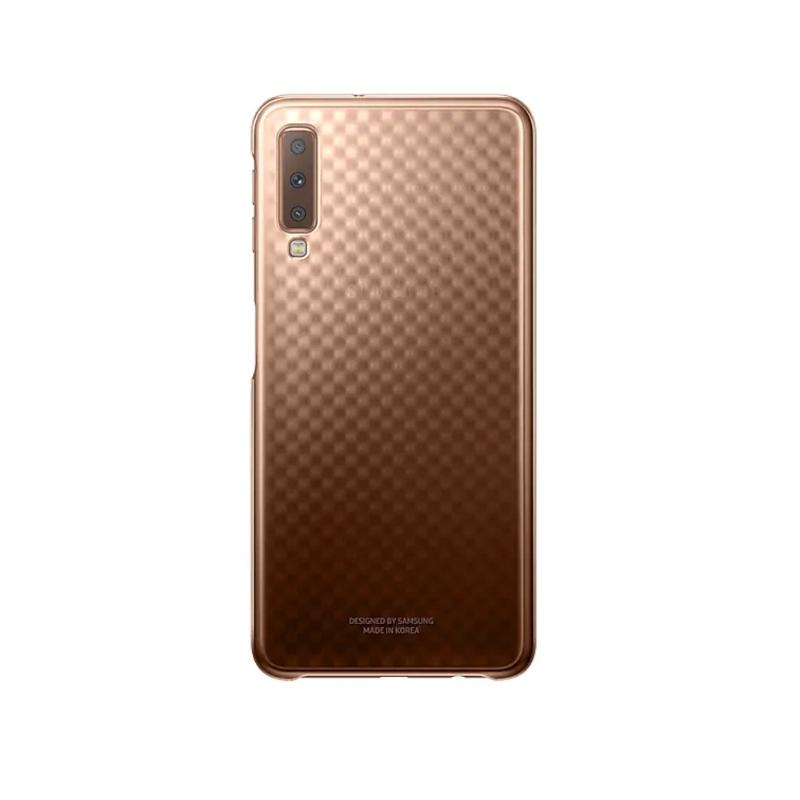 SAMSUNG Galaxy A7 漸層透明背蓋 金