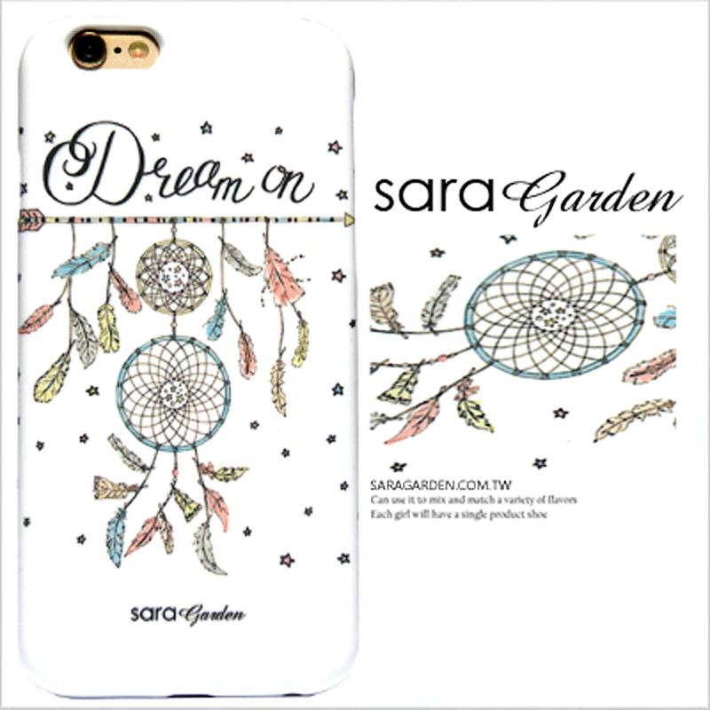 【Sara Garden】客製化 手機殼 蘋果 iphone7plus iphone8plus 插畫 捕夢網 羽毛 星星 硬殼 限定
