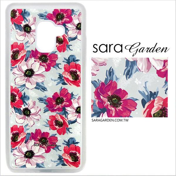 客製化 光盾 手機殼 Samsung 三星 S9 透明防滑紋 保護套 軟邊 防摔殼 浪漫紅花碎花
