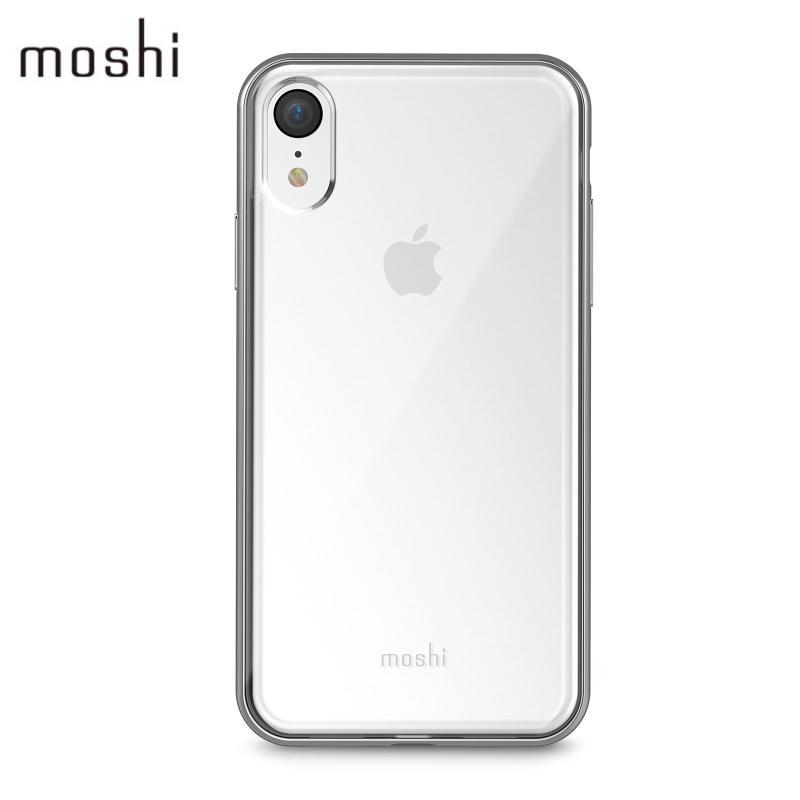 moshi Vitros 超薄透亮保護殼 iPhone XR 銀