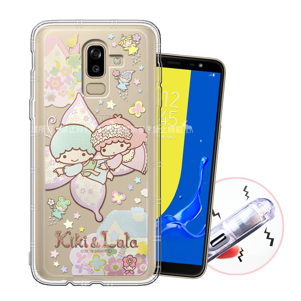 三麗鷗授權 KiKiLaLa雙子星 Samsung Galaxy J8 甜蜜系列彩繪空壓殼(蝴蝶)