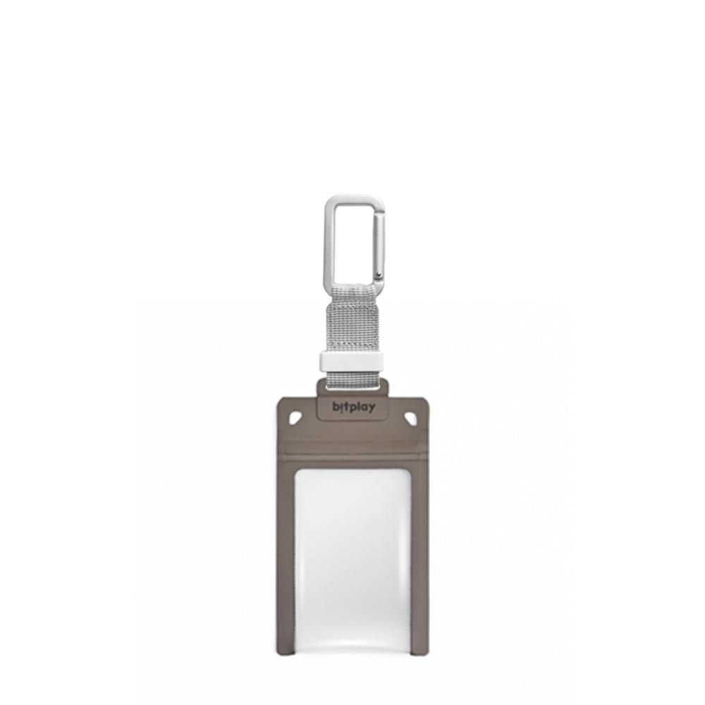 bitplay AquaSeal 防水機能證件套 - 沙漠黃 + 訂製掛鉤 - 銀色