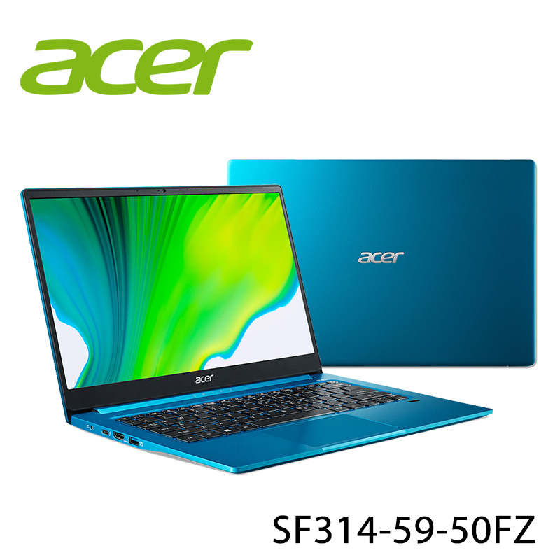【ACER宏碁】Swift 3 SF314-59-50FZ 藍 14吋 筆電-送3M直立式棉踏墊2入組+ACER無線鼠