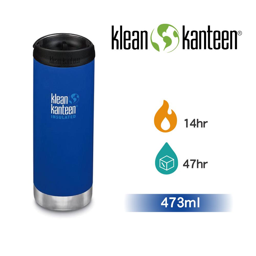 【美國Klean Kanteen】TKWide寬口不鏽鋼保溫瓶-473ml海底藍