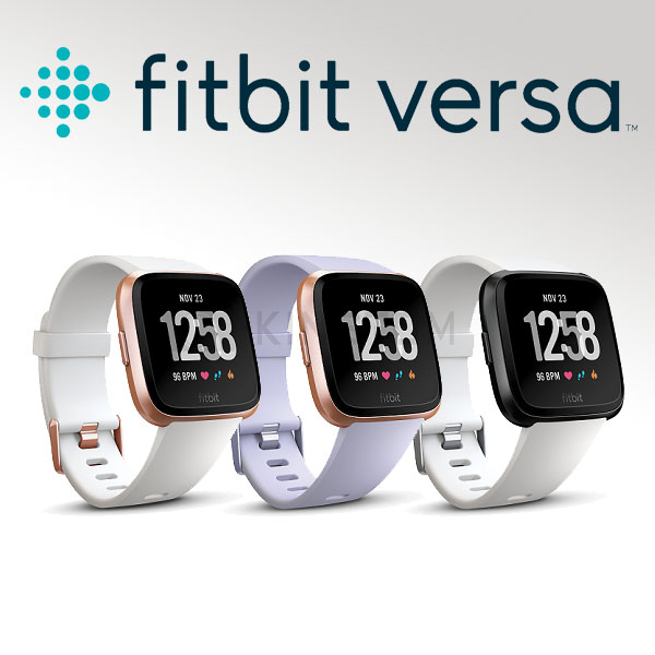 Fitbit Versa (金框薰衣草錶帶)智慧體感記錄器 經典款 運動手環 智慧手環 防水 公司貨 保固一年