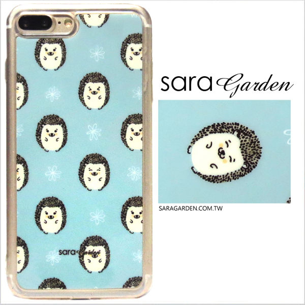 【Sara Garden】客製化 軟殼 蘋果 iPhone7 iphone8 i7 i8 4.7吋 手機殼 保護套 全包邊 掛繩孔 可愛刺蝟