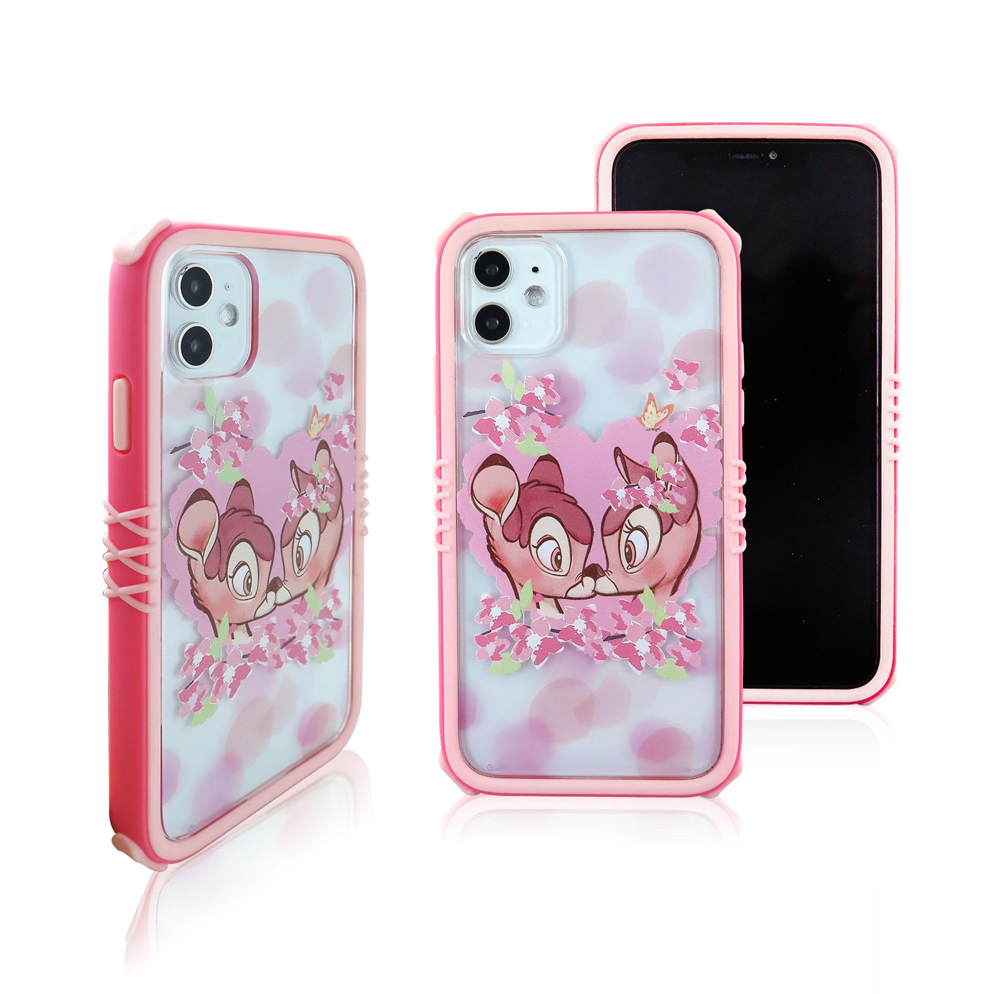 Disney迪士尼iPhone11櫻花系列雅典娜防摔殼_櫻花小鹿斑比
