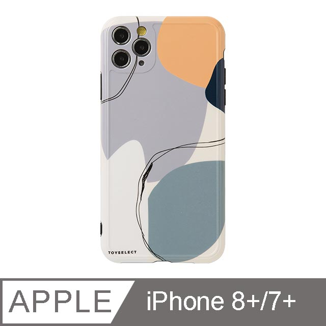 iPhone 7/8 Plus 5.5吋 Smilie藝術時空迴廊iPhone手機殼 藍紫夢境