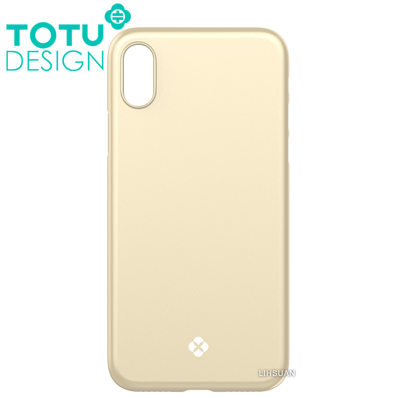 【TOTU台灣官方】iPhoneX手機殼 晶瑩系列 金色