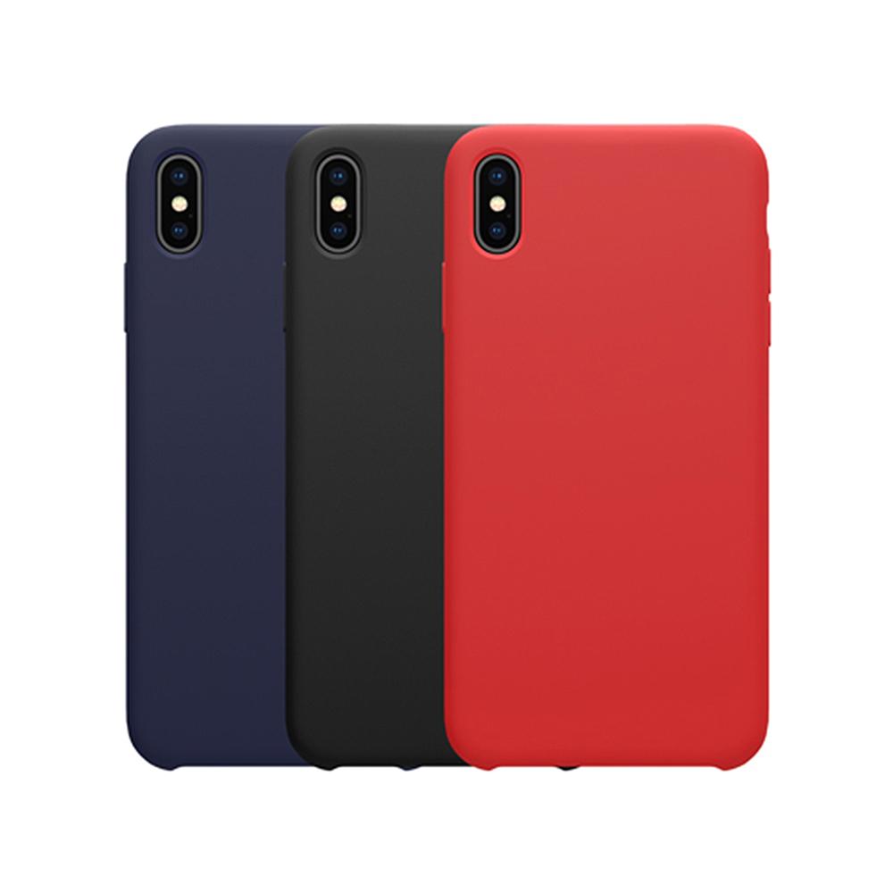 NILLKIN Apple iPhone Xs 感系列液態矽膠殼(黑色)