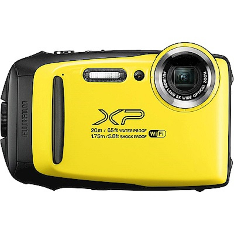 FUJIFILM XP140防水潛水相機 -黃色 恆昶公司貨 送64G高速卡+專用電池+專用座充+自拍棒+清潔組+保護貼+讀卡機+原廠相機包