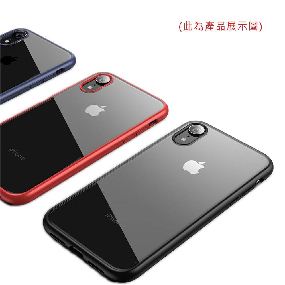 QinD Apple iPhone X/Xs 亮彩保護殼(紅色)