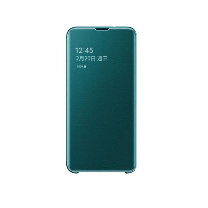 SAMSUNG Galaxy S10e全透視感應皮套 綠