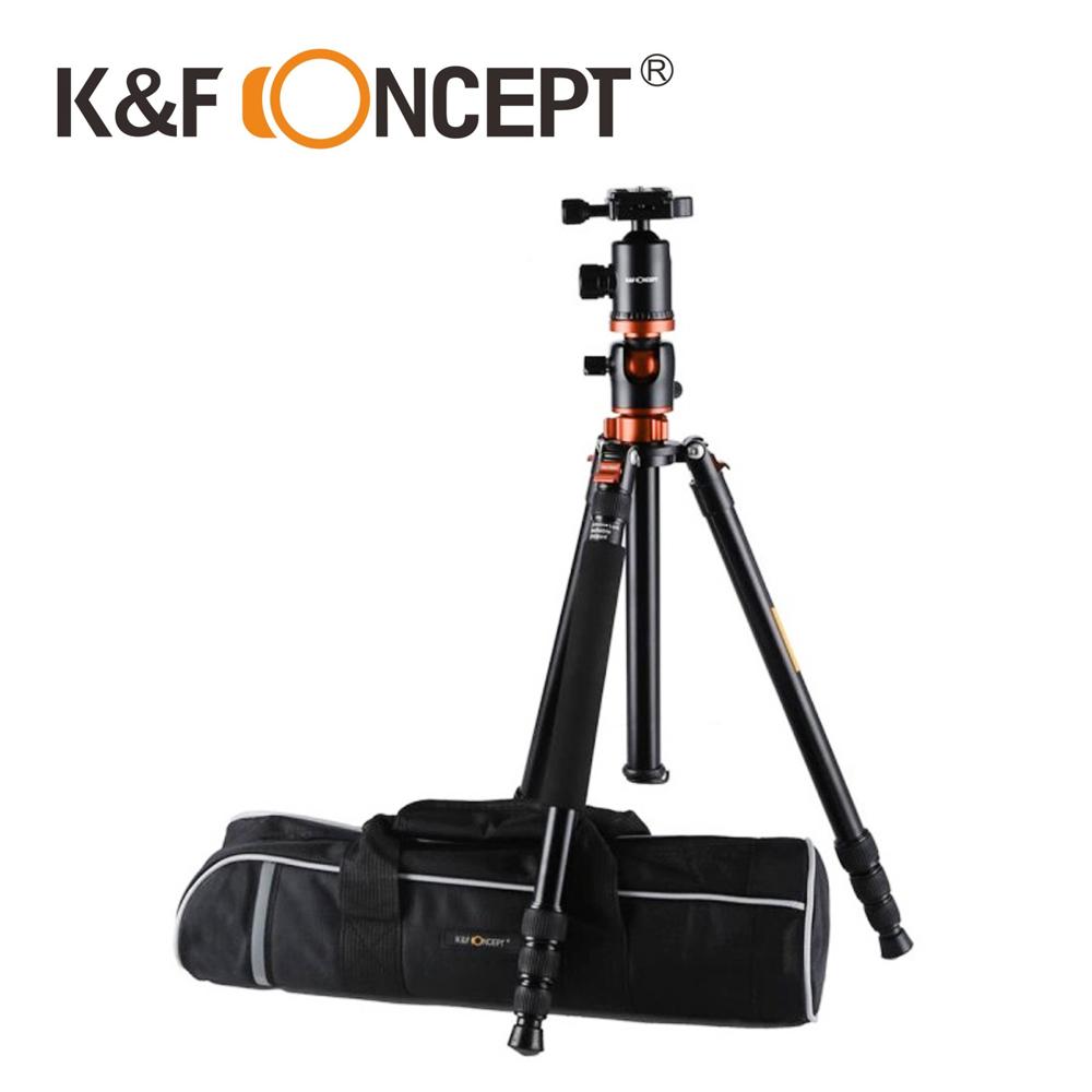 K&F Concept TM2534T 鋁合金多功能三腳架 橘色 超輕量 可倒折 球型雲台 (KF09.030)