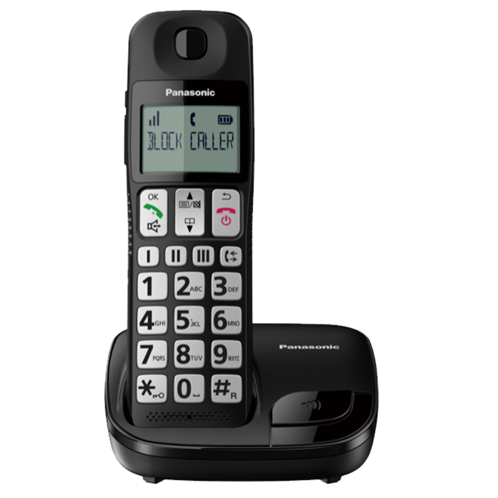 【贈國際牌負離子梳】Panasonic 國際牌 KX-TGE110TW 大字體大按鈕DECT數位無線電話