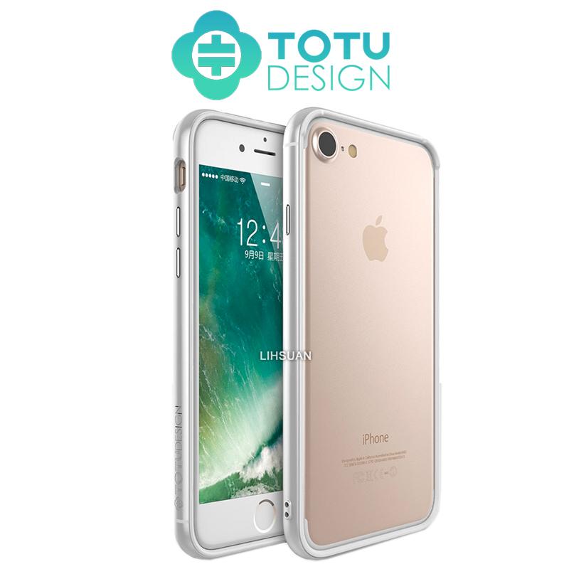 【TOTU台灣官方】極光邊框系列 蘋果 iPhone7 iphone8 i7 i8 4.7吋 手機殼 軟殼 撞色 邊框 掛繩孔 太空銀