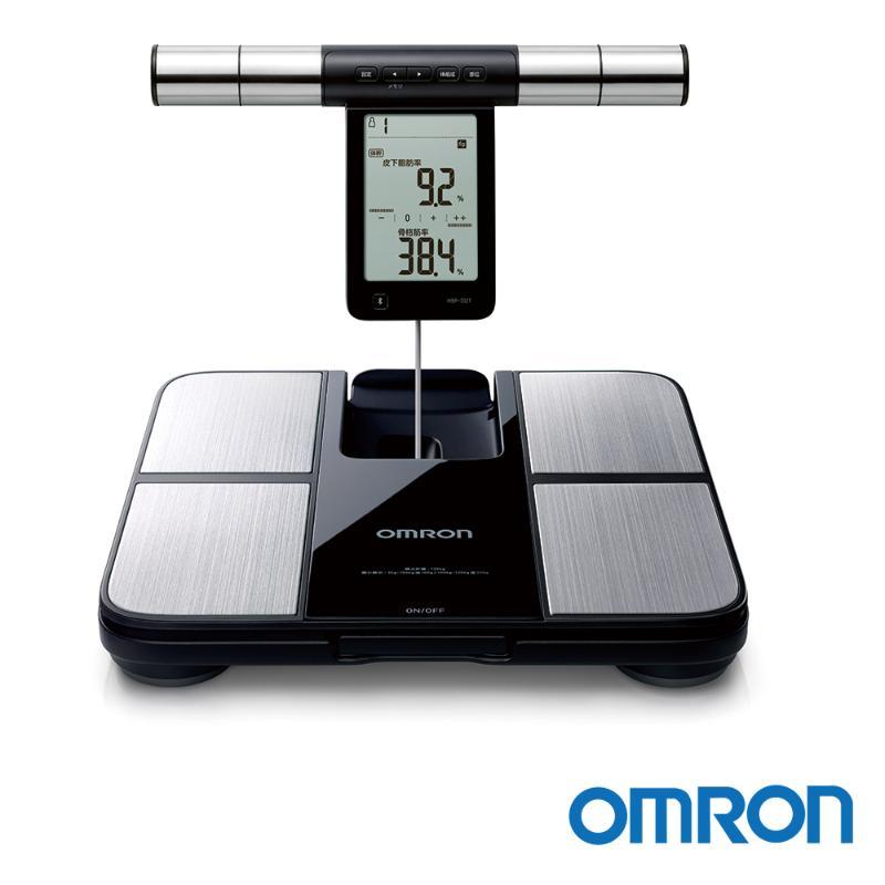 OMRON歐姆龍 藍牙體重體脂肪計 黑銀 HBF-702T【享一年保固】