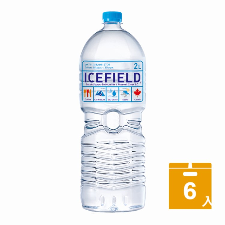 加拿大ICEFIELD 天然冰河水(2000mlx6入)