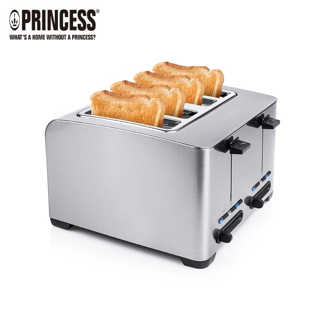 【PRINCESS|荷蘭公主】不鏽鋼四片烤麵包機/吐司機 142397