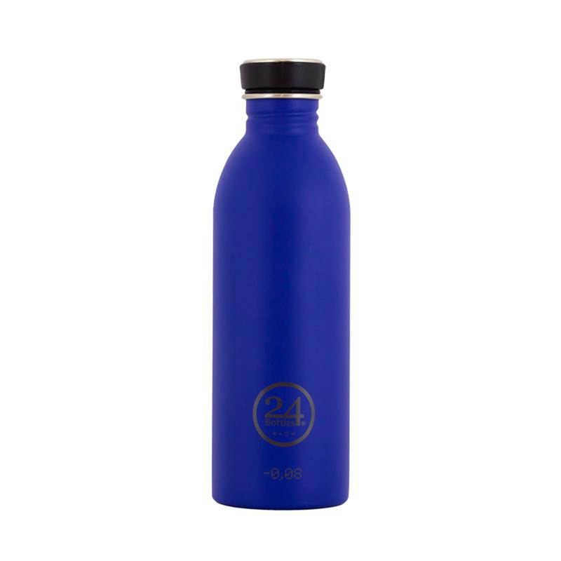 義大利 24Bottles 城市水瓶 500ml - 金光藍