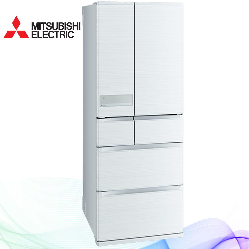 三菱605L日本原裝變頻六門電冰箱MR-JX61C絹絲白(W)