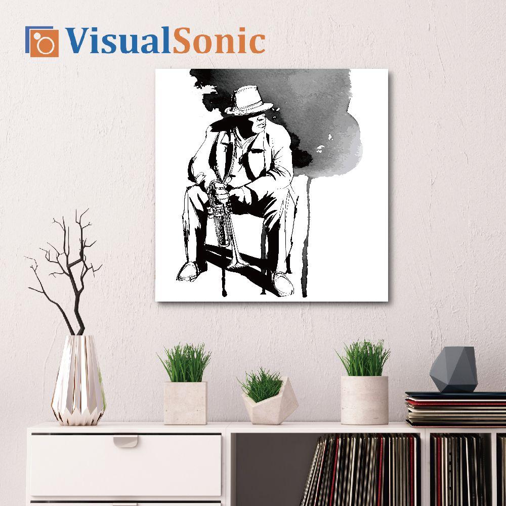 【VISUAL SONIC 夏潮 】超薄藍牙畫布音箱 Jazz Man