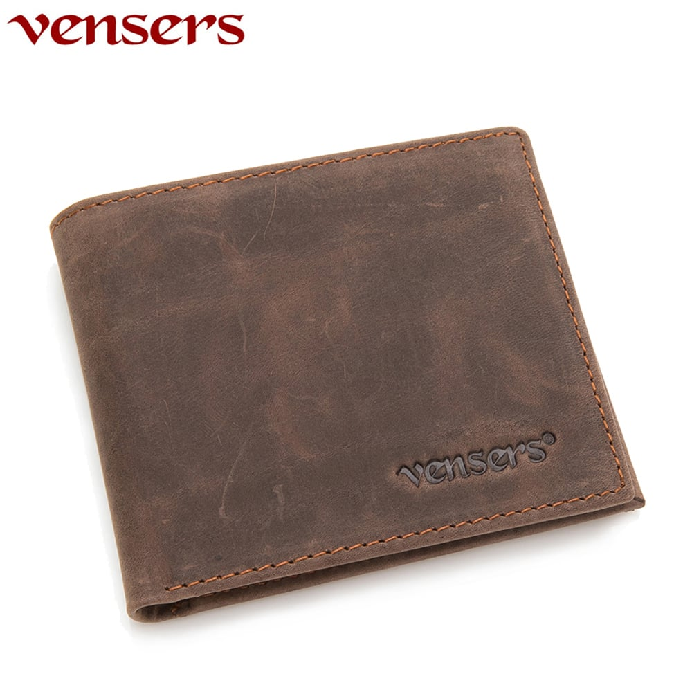 【vensers】小牛皮潮流個性皮夾~NB5302812咖啡短夾