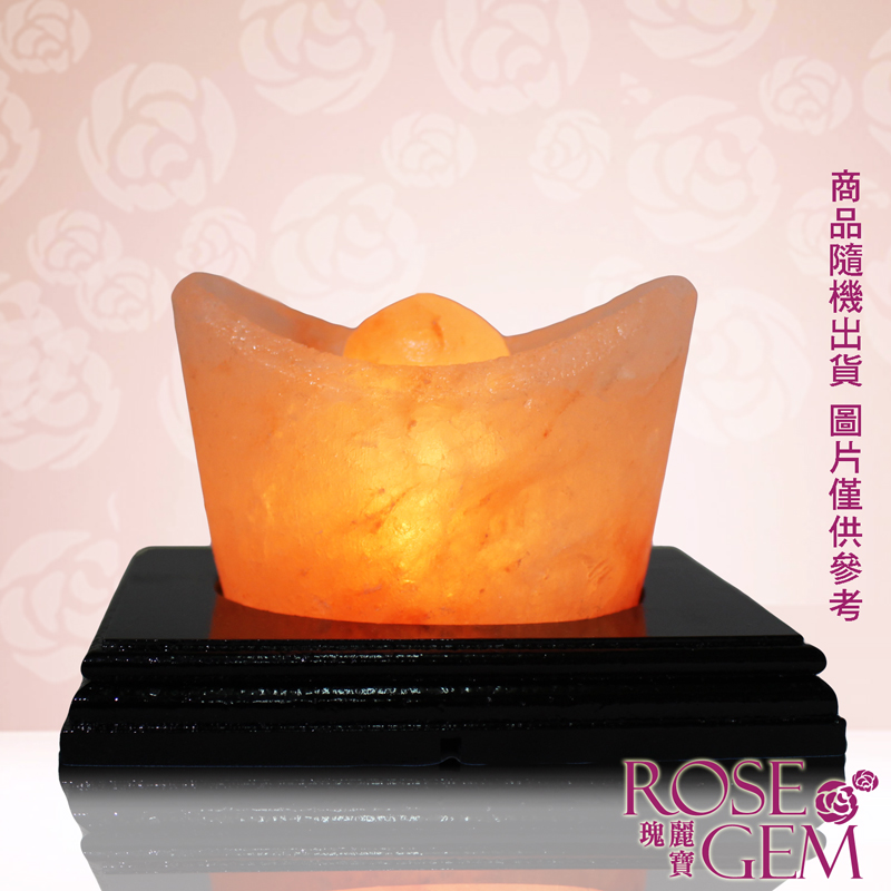 【瑰麗寶】金鑽元寶USB玫瑰鹽晶燈