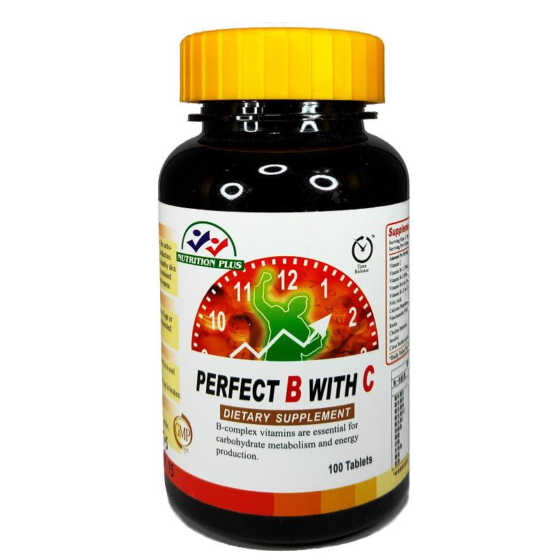【營養補力】沛力水溶性維他命B+C錠 100錠裝 VITA B+C 美國進口