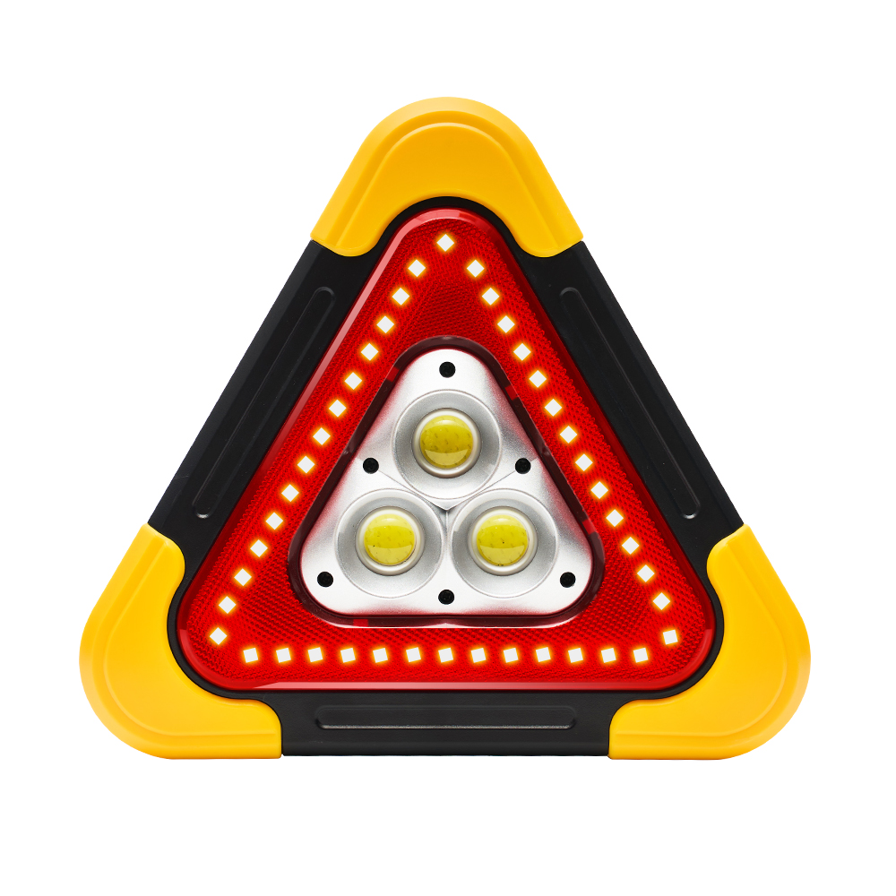 【OMyCar】新一代(加大款)超亮太陽能LED三角警示燈-附USB充電線 緊急照明 車用燈 站立/手提 故障標誌 警示架 露營燈 夜間照明 照明設備