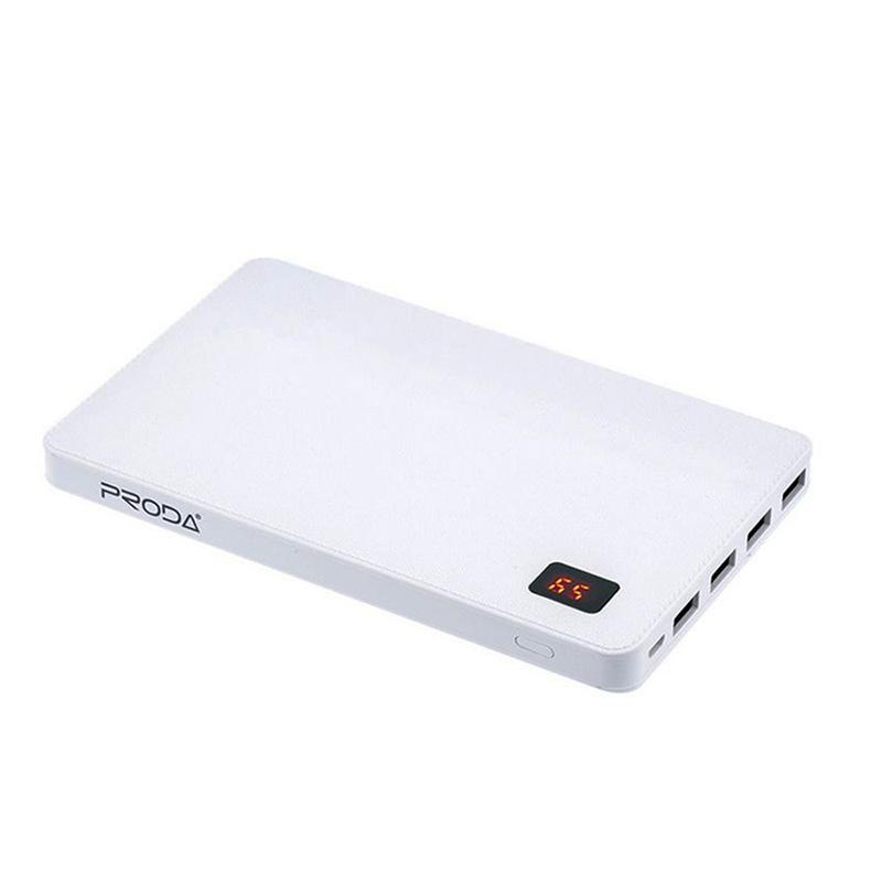 Proda筆記本 30000mAh 4孔USB 4.2A超大輸出行動電源-白