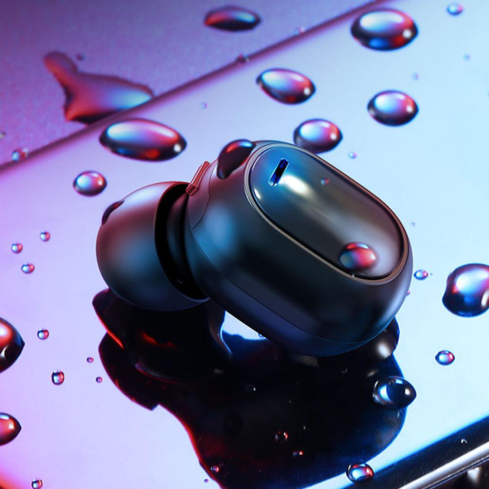 【TOTU台灣官方】Mini 藍芽 無線 耳機 運動 IPX4 觸控 螢火蟲系列 黑色