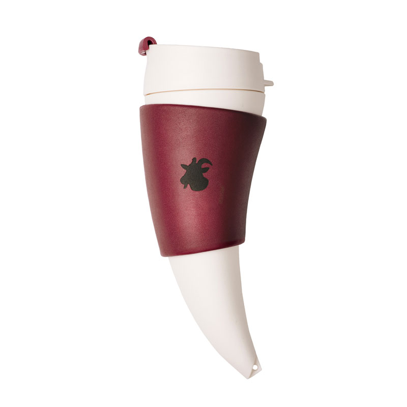 Goat Mug 山羊角咖啡杯12oz/350ml-酒紅