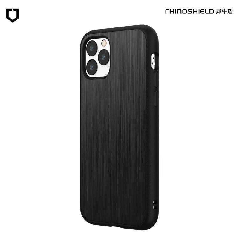犀牛盾 SolidSuit 防摔背蓋手機殼 iPhone 11 Pro Max 6.5(2019) 髮絲紋-黑